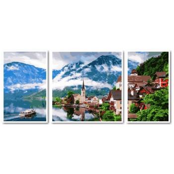 Картина модульная по номерам Babylon Летняя Австрия 50*110 см 3 модуля арт.VPT050